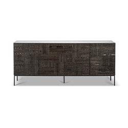 Tabwa | Teak black sideboard - 4 doors - varnished | Aparadores | Ethnicraft