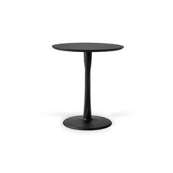 Torsion | Oak black dining table - varnished | Bistro tables | Ethnicraft