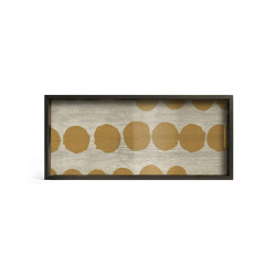 Translucent Silhouettes tray collection | Sienna Dots glass tray - rectangular - M | Trays | Ethnicraft