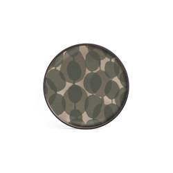 Translucent Silhouettes tray collection | Connected Dots glass tray - round - S | Trays | Ethnicraft