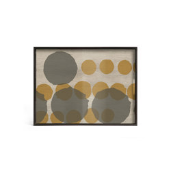 Translucent Silhouettes tray collection | Sienna Layered Dots glass tray - rectangular - L | Trays | Ethnicraft