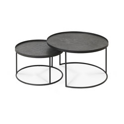 Tray tables | Round tray coffee table set - S/L (trays not included) | Nesting tables | Ethnicraft