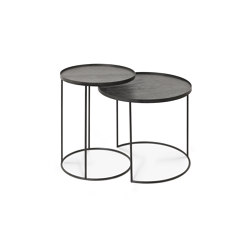 Tray tables | Round tray side table set - S/L (trays not included) | Nesting tables | Ethnicraft