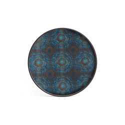 Tribal Quest tray collection   Seaside Beads wooden tray - round - L   Trays   Ethnicraft