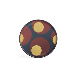Urban Geometry tray collection   Turkish Dots glass tray - round - S   Trays   Ethnicraft