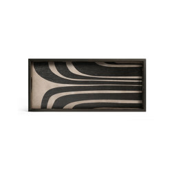 Urban Geometry tray collection   Graphite Curves wooden tray - rectangular - M   Trays   Ethnicraft