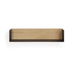 Wall decor | Oak U shelf - L - black | Estantería | Ethnicraft