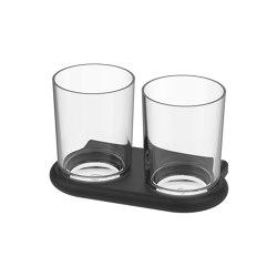 Nia Double glass holder | Toothbrush holders | Bodenschatz
