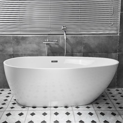 ACRYLIC   EGG Freestanding Acrylic Bathtub - 150cm   Bathtubs   Riluxa