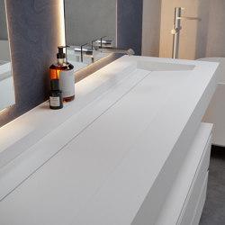CORIAN® | Alabama Plus DuPont™ Corian® Wall Mounted Washbasin | Wash basins | Riluxa