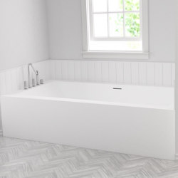 CORIAN® | Bañera encastrada B-Flat de Corian® - 1 panel | Bañeras | Riluxa