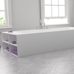 CORIAN® | B-Flat Built-in DuPont™ Corian® Bathtub - Side shelves | Bathtubs | Riluxa