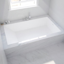 CORIAN® | B-Flat Built-in DuPont™ Corian® Bathtub | Bathtubs | Riluxa