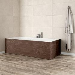 CORIAN®   B-Round Built-in DuPont™ Corian® Bathtub - 2 Panels   Bathtubs   Riluxa