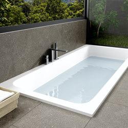 CORIAN® | B-Round Built-in DuPont™ Corian® Bathtub - Integrated | Bathtubs | Riluxa