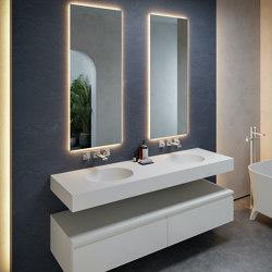 CORIAN®   Calm DuPont™ Corian® Wall Mounted Double Washbasin   Wash basins   Riluxa