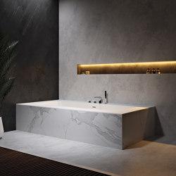 CORIAN® | Delight 8410 Built-in DuPont™ Corian® Bathtub | Bathtubs | Riluxa