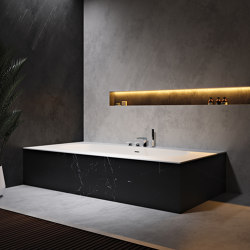 CORIAN® | Delight 8420 Built-in DuPont™ Corian® Bathtub | Bathtubs | Riluxa