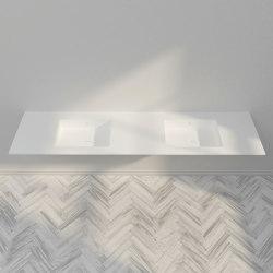 CORIAN®   Energy DuPont™ Corian® Double Vanity Top   Wash basins   Riluxa