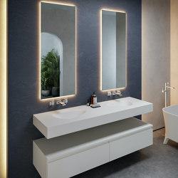 CORIAN®   Phoenix DuPont™ Corian® Wall Mounted Double Washbasin   Wash basins   Riluxa
