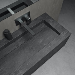 CORIAN® COLOUR | Mueble de baño suspendido Evora con lavabo en Corian® Colour - 1 cajón | Lavabos | Riluxa