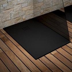 CORIAN® COLOUR | London DuPont™ Corian® Ultra Slim Shower Tray - Deep Nocturne | Shower trays | Riluxa