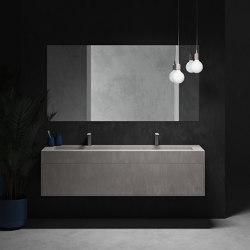 CORIAN® COLOUR | Mueble de baño suspendido Renaissance con lavabo en DuPont™ Corian® Colour - 1 cajón | Armarios lavabo | Riluxa