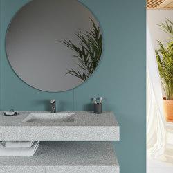 CORIAN® COLOUR | Tennessee Corian® Colour Wall Mounted Washbasin | Wash basins | Riluxa
