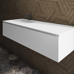 MDF + CORIAN®   Tennessee Wall Mounted DuPont™ Corian® Vanity Unit - 2 drawers   Vanity units   Riluxa