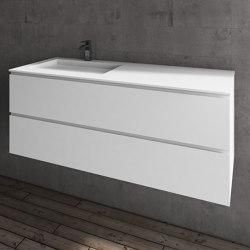 MDF + CORIAN® | Mueble de baño con lavabo Tennessee en DuPont™ Corian® - 2 cajones | Armarios lavabo | Riluxa