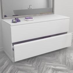 MDF | Modulo Freestanding MDF Bathroom Cabinet - 2 drawers | Bath side boards | Riluxa