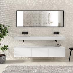 MDF   Modulo Wall Mounted MDF Bathroom Cabinet - 3 drawers   Vanity units   Riluxa