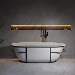 SOLID SURFACE | Amsterdam Freestanding Solid Surface Bathtub | Bathtubs | Riluxa