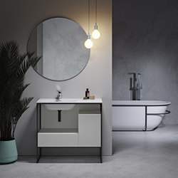 SOLID SURFACE | Amsterdam Freestanding Solid Surface Vanity Unit | Wash basins | Riluxa