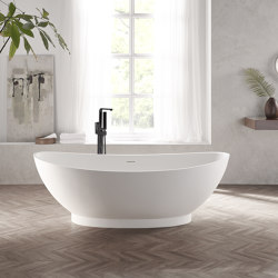 SOLID SURFACE | Annecy Freestanding Solid Surface Bathtub - 180cm | Bathtubs | Riluxa