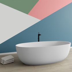 SOLID SURFACE | Blanca Freestanding Solid Surface Bathtub | Bathtubs | Riluxa