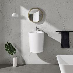 SOLID SURFACE | Bloom Solid Surface Wall Mounted Washbasin | Wash basins | Riluxa