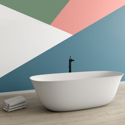 SOLID SURFACE | Brenda Freestanding Solid Surface Bathtub | Bathtubs | Riluxa