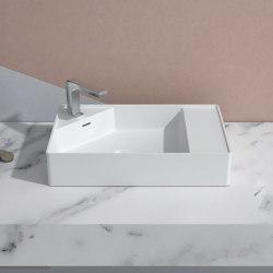 SOLID SURFACE | Centauro Solid Surface Counter Top Washbasin - 58cm | Wash basins | Riluxa