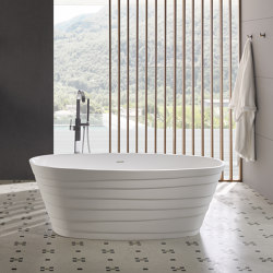 SOLID SURFACE | Chic Freestanding Solid Surface Bathtub - 160cm | Bathtubs | Riluxa