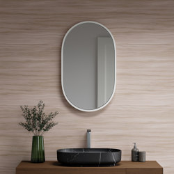 SOLID SURFACE | Cloud Solid Surface Mirror | Bath mirrors | Riluxa