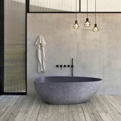 SOLID SURFACE | Concrete Freestanding Solid Surface Bathtub | Bathtubs | Riluxa