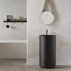 SOLID SURFACE | Dusk Solid Surface Freestanding Washbasin - Black | Wash basins | Riluxa