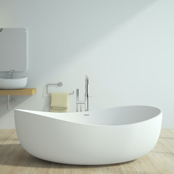 SOLID SURFACE | Genova Freestanding Solid Surface Bathtub - 180cm | Bathtubs | Riluxa