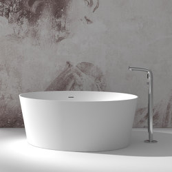 SOLID SURFACE | Grenoble Freestanding Solid Surface Bathtub - 140cm | Bathtubs | Riluxa