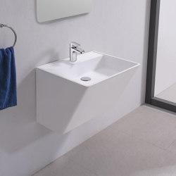 SOLID SURFACE | Kalmia Solid Surface Wall Mounted Washbasin | Wash basins | Riluxa