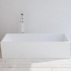 SOLID SURFACE | La Turbie Freestanding Solid Surface Bathtub - 158cm | Bathtubs | Riluxa