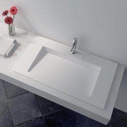 SOLID SURFACE | Lily Solid Surface Vanity Top | Wash basins | Riluxa