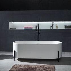 SOLID SURFACE | Milano Freestanding Solid Surface Bathtub - 160cm | Bathtubs | Riluxa