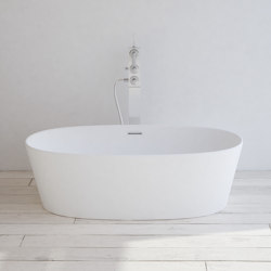 SOLID SURFACE | Nevers Freestanding Solid Surface Bathtub | Bathtubs | Riluxa
